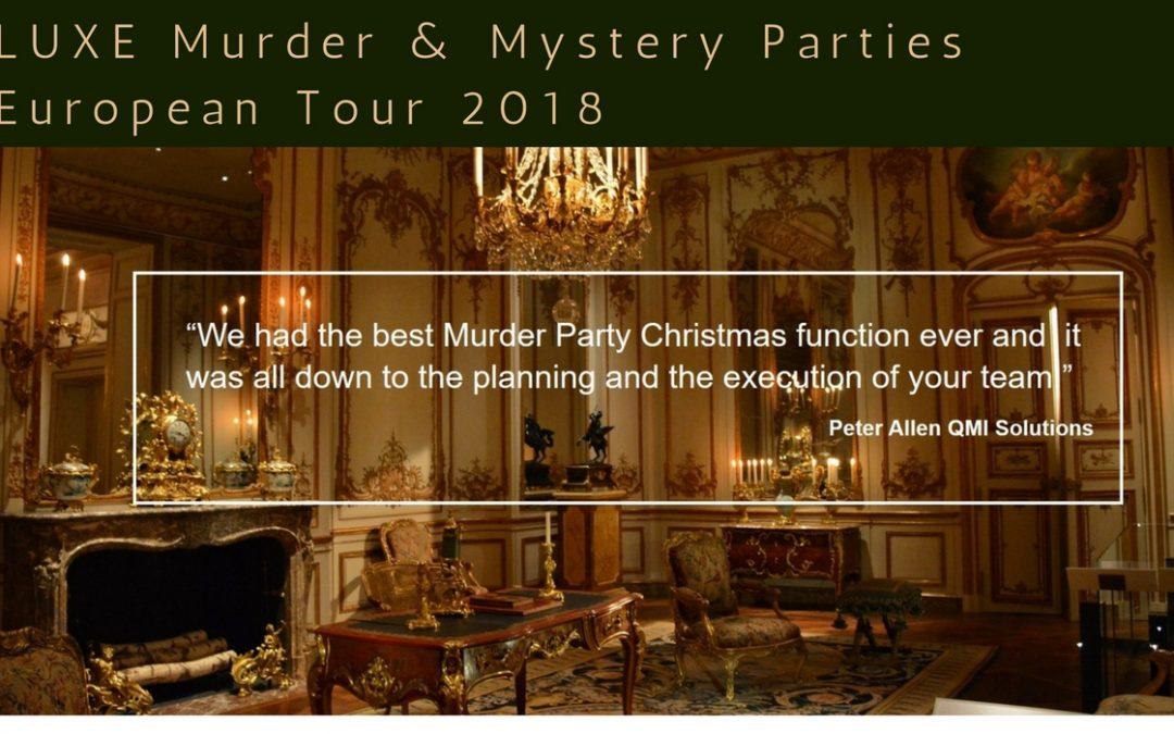 LUXE Murder & Mystery Parties – European Tour 2018